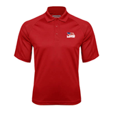 Red Textured Saddle Shoulder Polo-Flag on Stacked USA BMX