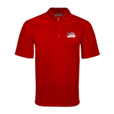 Red Mini Stripe Polo-Flag on Stacked USA BMX