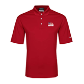 Nike Golf Dri Fit Red Micro Pique Polo-Flag on Stacked USA BMX