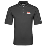Nike Golf Dri Fit Charcoal Micro Pique Polo-Flag on Stacked USA BMX