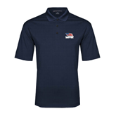 Navy Performance Fine Jacquard Polo-Flag on Stacked USA BMX