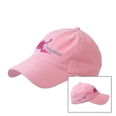 Pink Twill Unstructured Low Profile Cap-White BMX Princess
