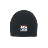Charcoal Knit Beanie-Riders on Stacked USA BMX