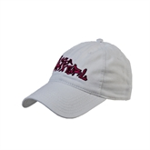 White Twill Unstructured Low Profile Hat-White USA BMX Girl