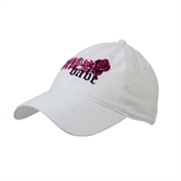 White Twill Unstructured Low Profile Hat-White BMX Babe