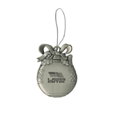 Silver Bulb Ornament-Flag on Stacked USA BMX Engraved