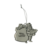 Pewter Santa Ornament-Flag on Stacked USA BMX Engraved