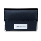 Leather Black Business Card Case-Stacked BMX Canada Engraved