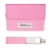 Business Card Case and Key Ring Set Pink-Stacked BMX Canada Engraved
