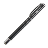 Tuscany Black Roller Ball Pen-USA BMX w/Flag In Between Engraved