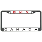 Metal License Plate Frame in Black-Canada