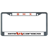 Metal License Plate Frame in Black-BMX Canada w/Flag
