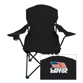 Deluxe Black Captains Chair-Flag on Stacked USA BMX
