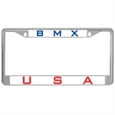 Metal License Plate Frame in Chrome-USA BMX