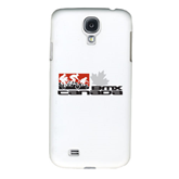 White Samsung Galaxy S4 Cover-Stacked BMX Canada w/Riders