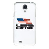 White Samsung Galaxy S4 Cover-Flag on Stacked USA BMX