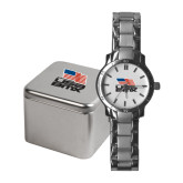 Ladies Stainless Steel Fashion Watch-Flag on Stacked USA BMX