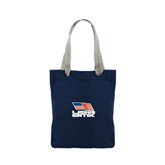 Allie Navy Canvas Tote-Flag on Stacked USA BMX