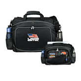 Hive Checkpoint Friendly Black Compu Case-Flag on Stacked USA BMX