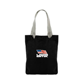 Allie Black Canvas Tote-Flag on Stacked USA BMX