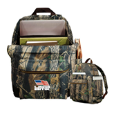 Heritage Supply Camo Computer Backpack-Flag on Stacked USA BMX