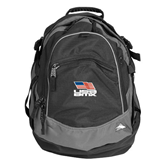 High Sierra Black Fat Boy Day Pack-Flag on Stacked USA BMX