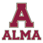 Large Decal-Stacked Alma, 12 in wide