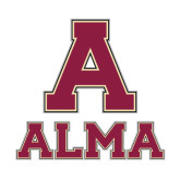 Small Decal-Stacked Alma, 6 in wide
