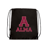 Black Drawstring Backpack-Stacked Alma