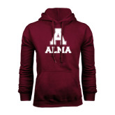 Maroon Fleece Hoodie-Stacked Alma