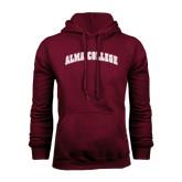 Maroon Fleece Hoodie-Alma College Arched