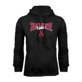 Black Fleece Hoodie-Baseball Bats Design