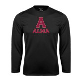 Performance Black Longsleeve Shirt-Stacked Alma