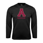 Performance Black Longsleeve Shirt-Soccer