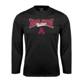 Performance Black Longsleeve Shirt-Baseball Bats Design