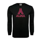 Black Long Sleeve TShirt-Stacked Alma