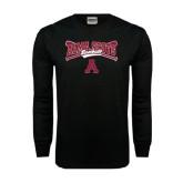Black Long Sleeve TShirt-Baseball Bats Design