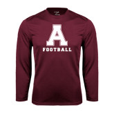 Performance Maroon Longsleeve Shirt-Football