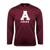 Performance Maroon Longsleeve Shirt-Cheerleading