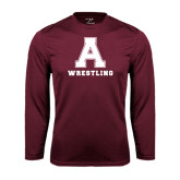 Performance Maroon Longsleeve Shirt-Wrestling