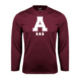 Performance Maroon Longsleeve Shirt-Dad