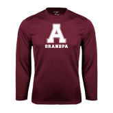 Performance Maroon Longsleeve Shirt-Grandpa