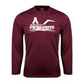 Performance Maroon Longsleeve Shirt-Swim and Dive