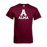 Maroon T Shirt-Stacked Alma