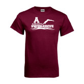 Maroon T Shirt-Swim and Dive