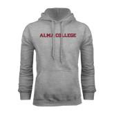 Grey Fleece Hoodie-Alma College