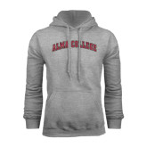 Grey Fleece Hoodie-Alma College Arched