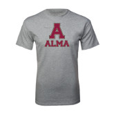 Grey T Shirt-Stacked Alma