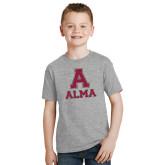 Youth Grey T-Shirt-Stacked Alma