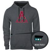 Contemporary Sofspun Charcoal Heather Hoodie-Stacked Alma